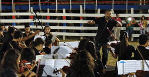 The Symphony Orchestra of Guanacaste children.
